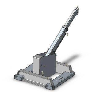 Кран-манипулятор с фиксированным креплением